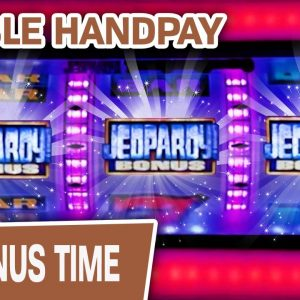 🎤 Jeopardy DOUBLE Handpay in Vegas! ✌ So, Is That DOUBLE JEOPARDY?