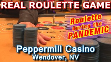 ROULETTE WITH A MASK! - Live Roulette Game #28 - Peppermill Casino, Wendover, NV - Inside the Casino