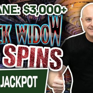 🥳 IN. SANE: $3,000+ in SLOT WINS on My FAVORITE Machine 🕸 $75 SPINS on Black Widow!