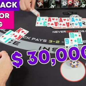 $30,000 Blackjack - Double or Nothing - Crazy Session - Wait for it.... #126