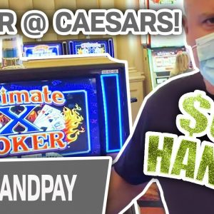 💰 $60 Hands = JACKPOT!!! 🎴 Ultimate X Poker at CAESARS PALACE Las Vegas