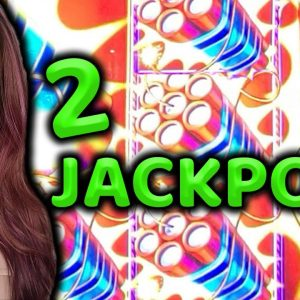 The HOTTEST SLOT MACHINE in Las Vegas! 2 HANDPAY JACKPOTS & Bonuses Galore!