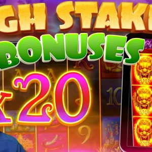*HIGH STAKES* Slots Bonus Compilation!