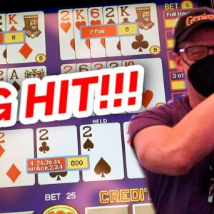 HITTING QUADS!! Double Double Bonus Five Play Video Poker