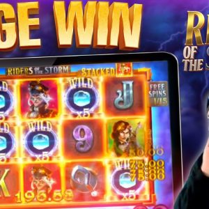 HUGE WIN! Riders Of The Storm Online Slot Delivers AGAIN!! #shorts