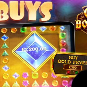 ITS BROKEN! 3 Epic Gems Bonanza Slot Bonus Buys!