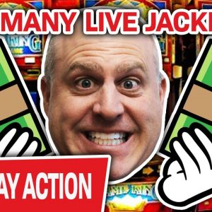 🔴 How Many Jackpots Will I Hit LIVE in Vegas? 🧮 10? 20? 30? Let's Play HIGH-LIMIT SLOTS!