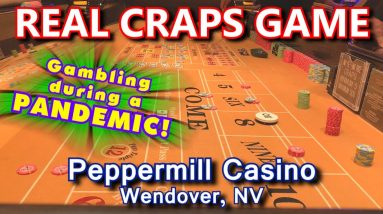 INCREDIBLE 32+ ROLLS! - Live Craps Game #49 - Peppermill Casino, Wendover, NV - Inside the Casino