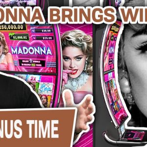 💃 SEXY MADONNA Brings Me Some MATERIAL WINS 💪 MIGHTY CASH SLOT MACHINE ACTION!
