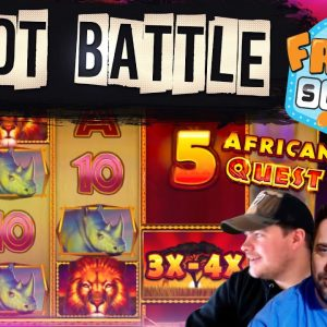 SLOTS BATTLE TIME! MICROGAMING v FRUITYSLOTS!