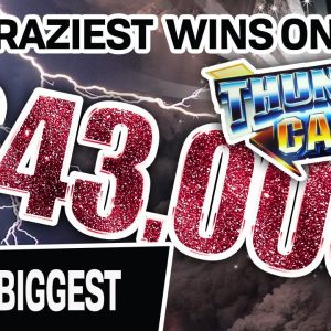 🔟 Top 10 CRAZIEST High-Limit Slot Wins... ⛈ ALL from Thunder Cash: $43,000+ in Total!