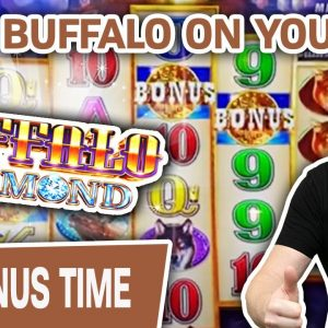 🥳 BEST BUFFALO SLOTS ON YOUTUBE! 🐃 MINI BOOM Playing Buffalo Diamond