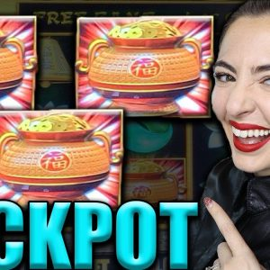 $50/SPIN JACKPOT Handpay w/RETRIGGER on Dragon Link Happy & Prosperous!