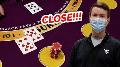 🔥 CLOSE 🔥10 Minute Blackjack Challenge - WIN BIG or BUST #78