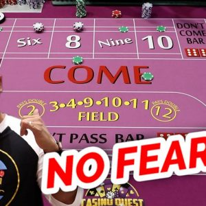 🔥 HOW TO WIN 🔥 30 Roll Craps Challenge - WIN BIG or BUST #41