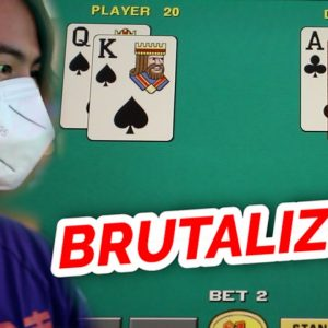BRUTAL VIDEO BLACKJACK SESSION