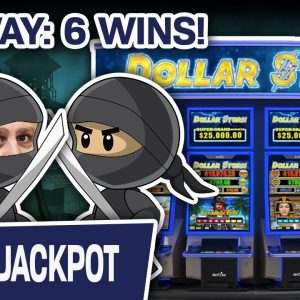🌦 No WAY: SIX Dollar Storm WINS 🐱‍👤 Ninja Moon Slots = Mini Booms & Handpays!