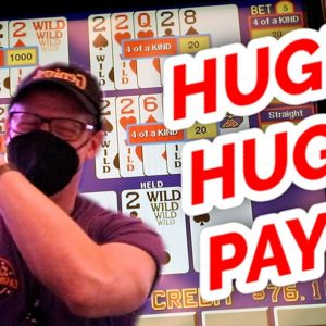 HITTING QUAD DEUCES!!!! Live Video Poker At Strat Hotel