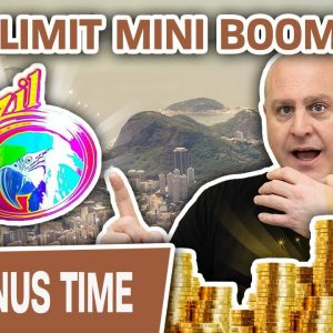 😱 HIGH-LIMIT Brazil Mini Boom! ➕ Big Red and Wolf Dollars Slot Machines!
