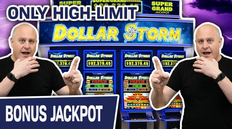 🌩 Dollar Storm Jackpot? ✅ YES PLEASE! Only High-Limit Slots for THE BIG JACKPOT