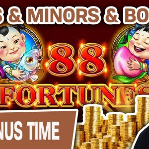 😲 MINIS and MINORS and BOOMS, Oh My! 🔮 $44 Spins Playing 88 Fortunes Slots
