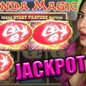 Up to $100/BETS! JACKPOT HANDPAY on High Limit Panda Magic!