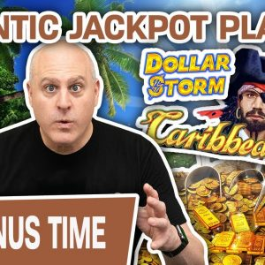 😱 GIGANTIC JACKPOT Playing Dollar Storm: Caribbean Gold ➕ ANOTHER Big Handpay, Too!