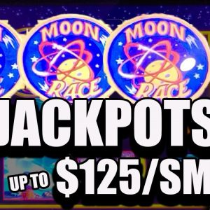 To The 🚀🚀🚀 $125/SPINS! 2 HANDPAY JACKPOTS! 6 BONUS GAMES on Moon Race!