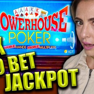 9X + 8X HANDPAY JACKPOT on $100/BET Video Poker!