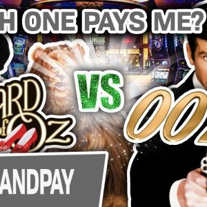 🥂 HANDPAY in Las Vegas! James Bond 🆚 Wizard of Oz? WHICH ONE PAYS ME?