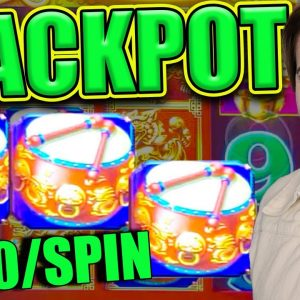BIG HANDPAY JACKPOT on DANCING DRUMS! Up to $220/BET!