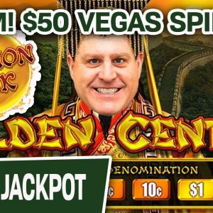 🧨 BOOM! $50 Per SPIN on DRAGON LINK: Golden Century 🐲 HANDPAY on the Las Vegas Strip!