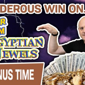 🌩 THUNDEROUS WIN with DOLLAR STORM: Egyptian Jewels 💍 High-Limit Slot Machine Handpay