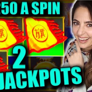 2 HANDPAY JACKPOTS on DRAGON LINK up to $250/SPIN!