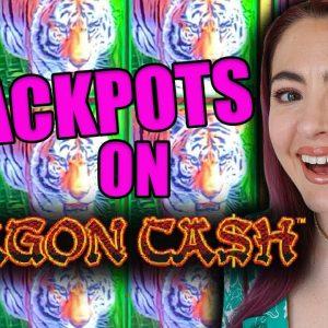 2 JACKPOT HANDPAYS ON $100/SPINS! DRAGON CASH IN Las Vegas!