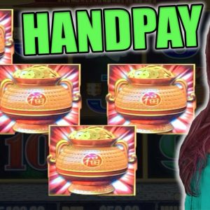4 SYMBOL HANDPAY JACKPOT on Happy & Prosperous Dragon Link!