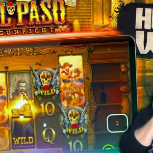 EL PASO GUNFIGHT MASSIVE WIN! New NoLimit City Slot