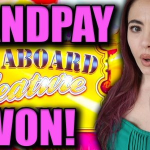 JACKPOT HANDPAY on a FAST SPIN in VEGAS on ALL ABOARD Slot Machine!