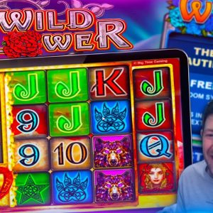 WILD FLOWER! 5 Bonuses On The New Big Time Gaming Slot!