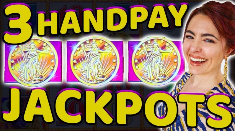 3 HANDPAY JACKPOTS on Buffalo Gold Collection in Vegas!