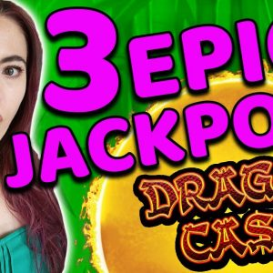 3 MASSIVE JACKPOTS on DRAGON CASH in the HIGH LIMIT ROOM in VEGAS!