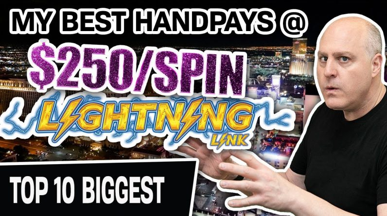 😱 My 10 MOST MASSIVE JACKPOTS @ $250/Spin ✨ ALL in LAS VEGAS! (ALL on Lightning Link)