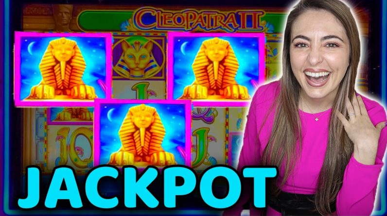 NEWEST Cleopatra 2 Game in Las Vegas! JACKPOT LANDED!