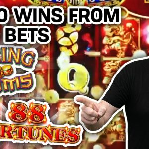 🍀 WHAT LUCK! Only $8.80 Bets 💥 My 10 BIGGEST SLOT WINS: Dancing Drums, 88 Fortunes, & MORE!