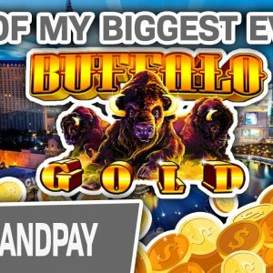 😲 One of My BIGGEST HANDPAYS EVER on Buffalo! 🐃 HUGE Slot Action @ Cosmo Las Vegas