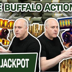 🌟 Even MORE Buffalo Action! 🌟 GIANT JACKPOT on Buffalo Deluxe + Buffalo Gold Too!