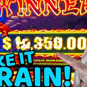 One of My BIGGEST JACKPOT HANDPAYS EVER on Dragon Link in Tampa!!!!