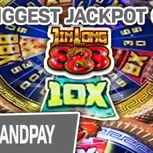 🔥 My BIGGEST JIN LONG 888 JACKPOT EVER IN HISTORY! 🎰 $45 Spins In VEGAS PAY OFF!