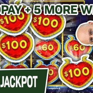 🖐 HUGE HANDPAY on Dollar Storm ➕ Five Additional Wins, Playing $50 Per Spin