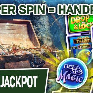 🎰 $50 PER SPIN = HANDPAY 🤿 Drop & Lock: Deep Sea Magic Gives Me a GIANT WIN